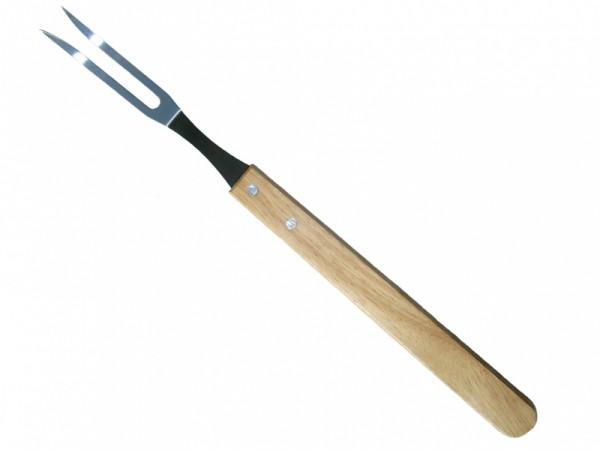 Вилка для гриля RoyalGrill80-007Вилка RoyalGrill предназначена для гриля. Она изготовлена из стали, ее рукоятка из дерева.Вилка будет незаменима на отдыхе, она компактная и легкая.
