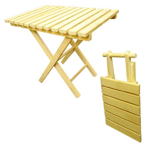 Стол складной 66х57х62 см , береза WILDMAN
