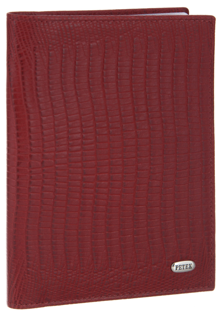 Обложка для автодокументов женская Petek 1855, цвет: красный. 584.041.10Натуральная кожаСтильная обложка для автодокументов Petek 1855 изготовлена из натуральной кожи с декоративным фактурным тиснением под кожу рептилии, оформлена металлической пластиной с символикой бренда.Внутри изделия расположены четыре прорезных кармашка для пластиковых карт, сетчатый карман и вкладыш, включающий в себя шесть файлов под автодокументы. Изделие поставляется в фирменной упаковке.Практичная и удобная модель обложки предназначена для тех, кто предпочитает все необходимое хранить в одном месте.