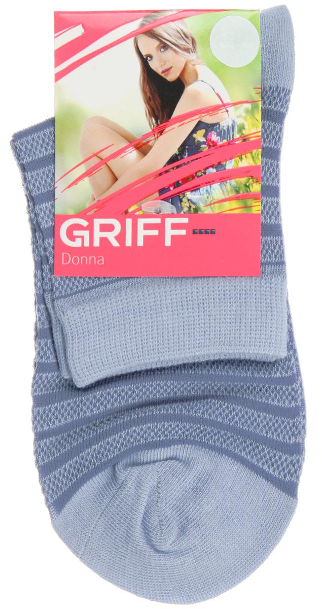Носки женские Griff Полосы, цвет: голубой. D4O2. Размер 35/38