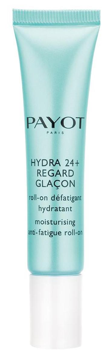 Payot Hydra 24+ Увлажняющий гель с роликовым аппликатором для снятия усталости кожи вокруг глаз, 15 мл65108986Освежающий гель с охлаждающим металлическим роликом аппликатором помогает уменьшить отеки и темные круги под глазами, увлажняет, предотвращает преждевременное старение и защищает от внешних агрессивных факторов.Наносите крем утром и вечером на очищенную кожу области глаз.