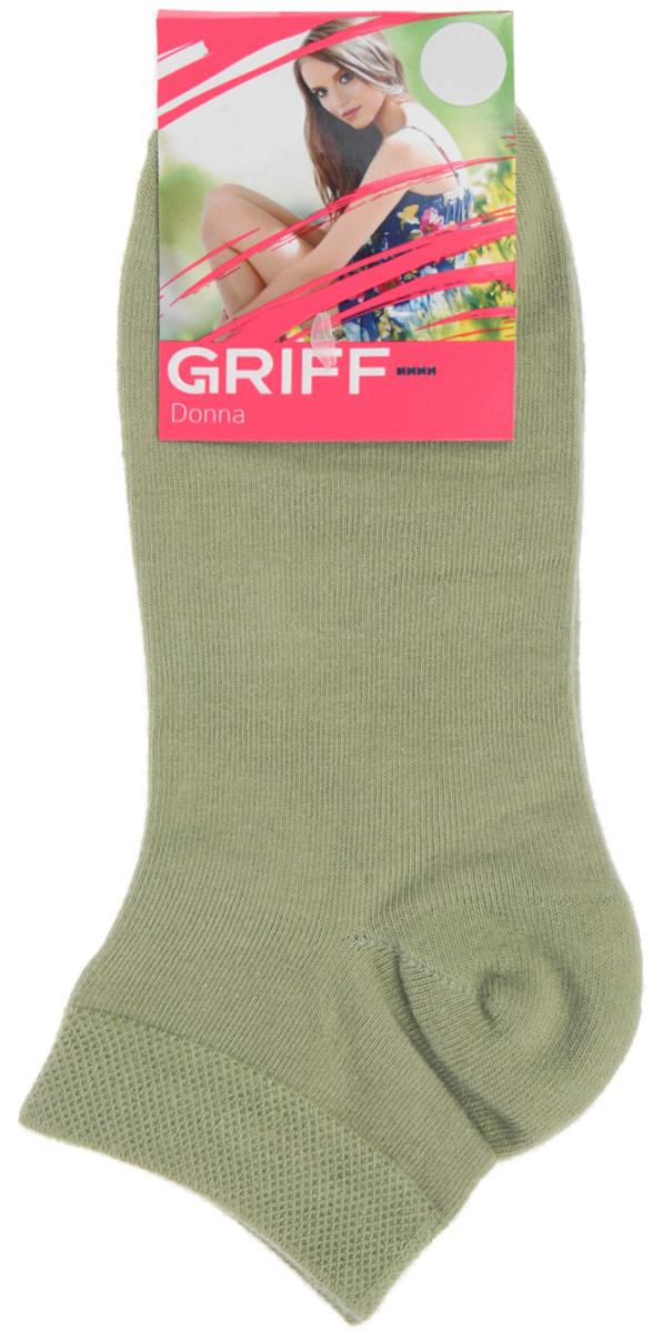 Носки женские Griff Donna, цвет: зеленый. D4U3. Размер 39/41D4U3Женские укороченные носки Griff изготовлены из высококачественного сырья. Однотонные носки очень мягкие на ощупь, а широкая резинка плотно облегает ногу, не сдавливая ее, благодаря чему вам будет комфортно и удобно. Усиленная пятка и мысок обеспечивают надежность и долговечность.