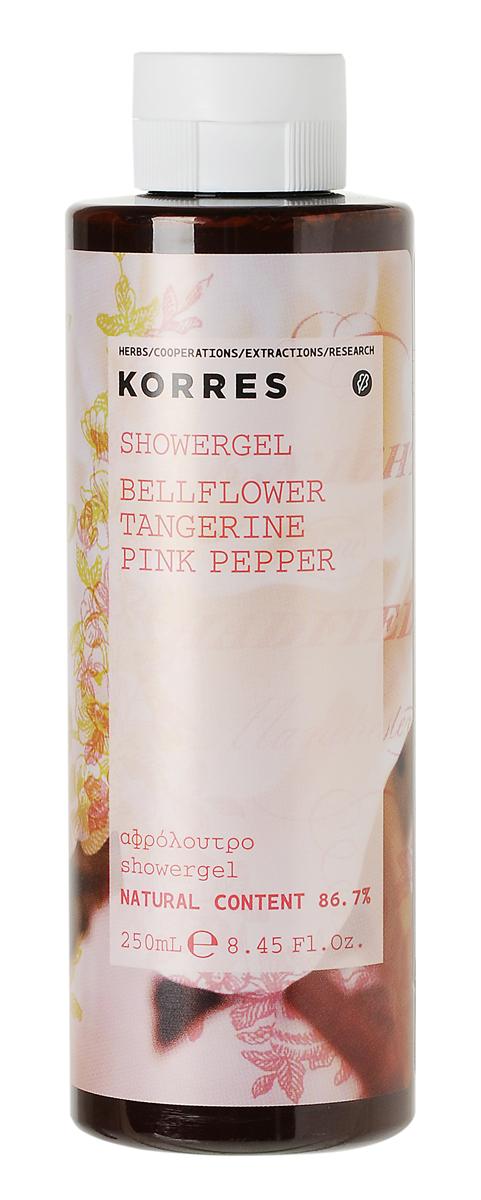 Korres Гель для душа Колокольчик, мандарин, розовый перец, 250 мл гель для душа korres korres ko003lucnc21