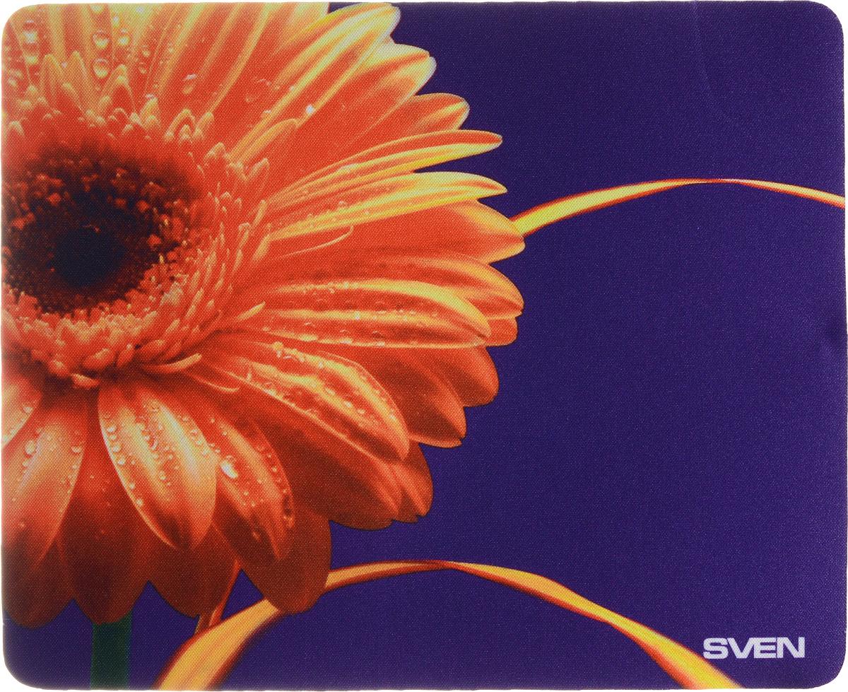 Sven SA, Orange Violet коврик для мышиSA-011147_гербераКоврик для мыши Sven SA изготовлен из 100% полиэстера и каучука -высокотехнологичных экологических материалов. Подходит как для оптической, так и для лазерной мыши. Гладкая поверхность со специальной текстурой повышает точность позиционирования мышки. Специальное нескользящее основание надежно фиксирует коврик на столе. Коврик выпускается с большим количеством различных изображений.