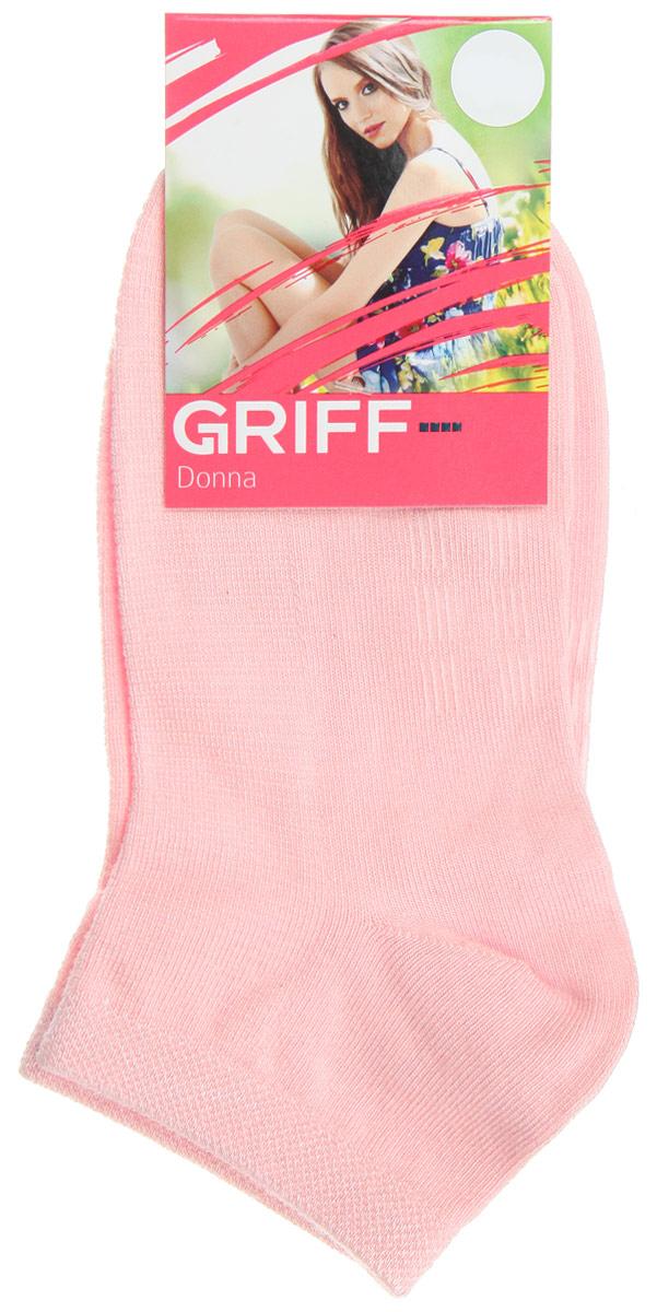 Носки женские Griff Бамбук, цвет: светло-розовый. D4U5. Размер 39/41D4U5Женские укороченные носки Griff изготовлены из высококачественного сырья. Однотонные носки очень мягкие на ощупь, а широкая резинка плотно облегает ногу, не сдавливая ее, благодаря чему вам будет комфортно и удобно. Усиленная пятка и мысок обеспечивают надежность и долговечность.