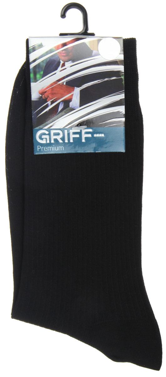 Носки мужские Griff Premium, цвет: темно-синий. E4. Размер 39/41E4Мужские носки Griff Premium изготовлены из высококачественного сырья с добавлением полиамидных волокон, которые обеспечивают великолепную посадку. Носки отличаются элегантным внешним видом. Удобная широкая резинка идеально облегает ногу и не пережимает сосуды, усиленные пятка и мысок повышают износоустойчивость носка, а удлиненный паголенок придает более эстетичный вид.
