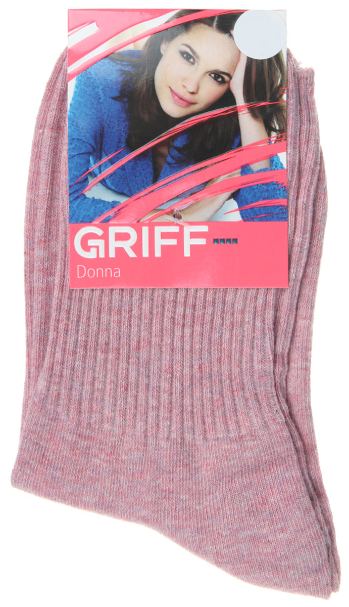 Носки женские Griff Резинка, цвет: малиновый. D4O1. Размер 39/41 griff d4o1 3