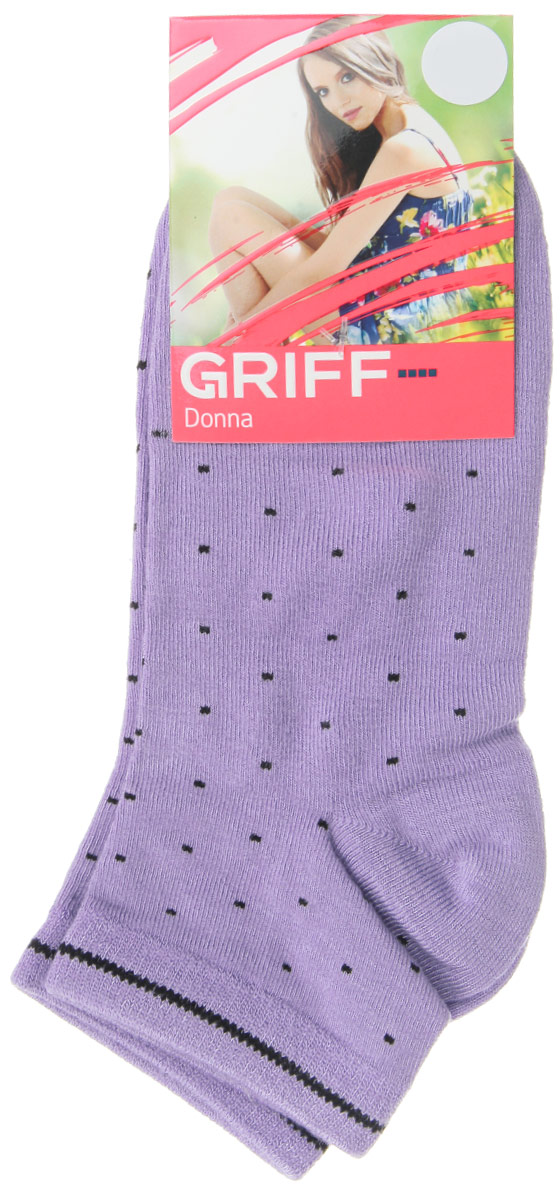 Носки женские Griff Точки, цвет: лиловый. D4U8. Размер 39/41 griff носки