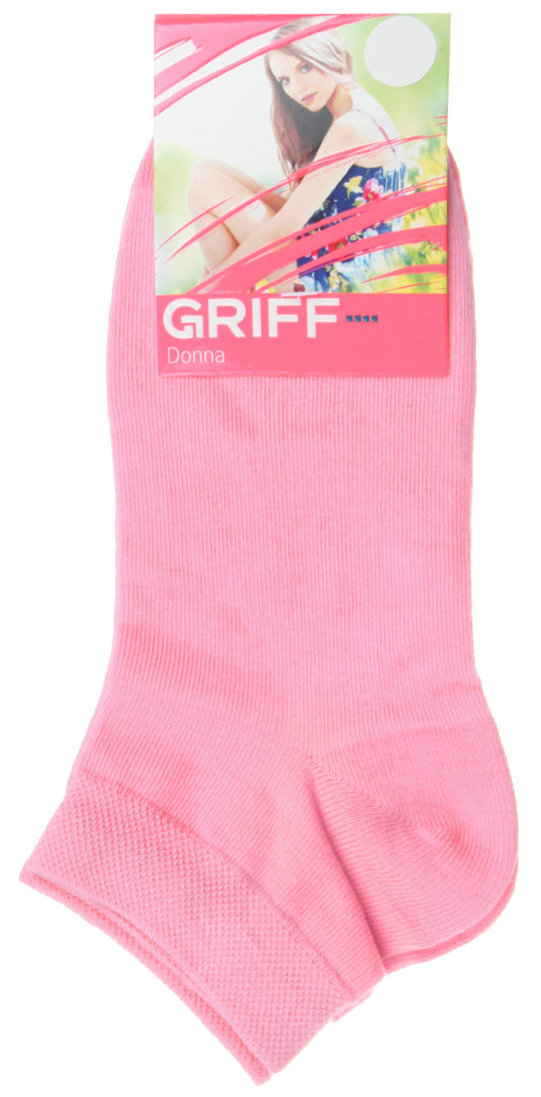 Носки женские Griff Donna, цвет: розовый. D4U3. Размер 35/38D4U3Женские укороченные носки Griff изготовлены из высококачественного сырья. Однотонные носки очень мягкие на ощупь, а широкая резинка плотно облегает ногу, не сдавливая ее, благодаря чему вам будет комфортно и удобно. Усиленная пятка и мысок обеспечивают надежность и долговечность.