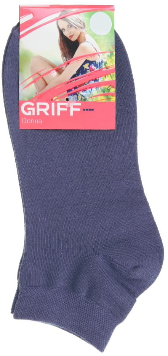 Носки женские Griff Donna, цвет: синий. D4U3. Размер 35/38D4U3Женские укороченные носки Griff изготовлены из высококачественного сырья. Однотонные носки очень мягкие на ощупь, а широкая резинка плотно облегает ногу, не сдавливая ее, благодаря чему вам будет комфортно и удобно. Усиленная пятка и мысок обеспечивают надежность и долговечность.