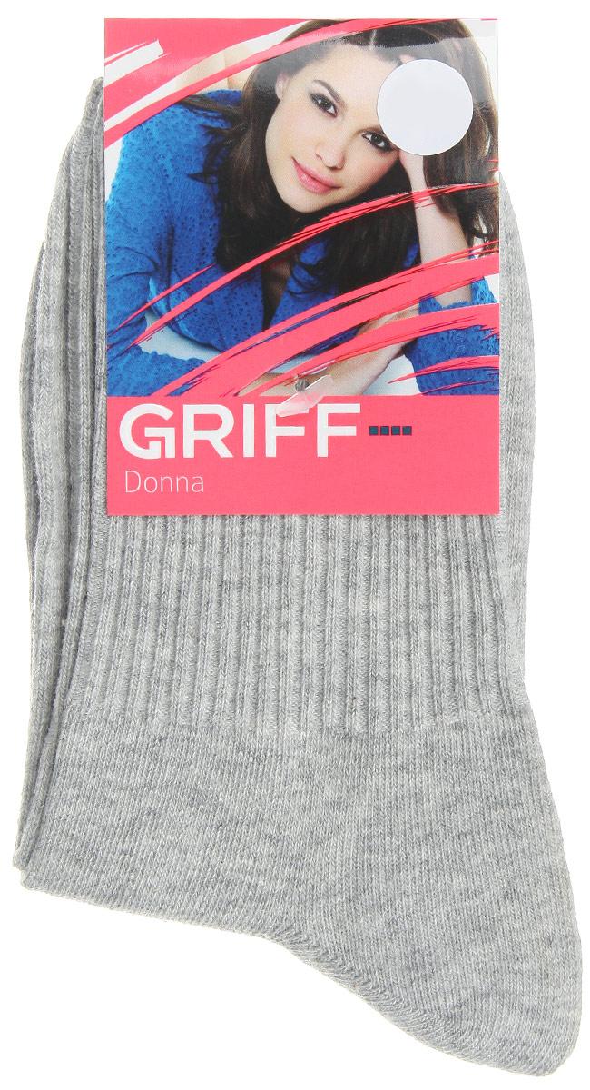 где купить Носки женские Griff Резинка, цвет: серый. D4O1. Размер 39/41 дешево