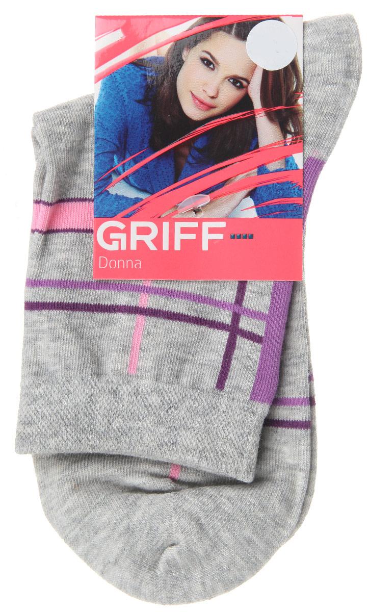 Носки женские Griff Линии, цвет: серый. D58. Размер 35/38D58Женские носки Griff Линии изготовлены из высококачественного сырья. Носки очень мягкие на ощупь, а широкая резинка плотно облегает ногу, не сдавливая ее, благодаря чему вам будет комфортно и удобно. Усиленная пятка и мысок обеспечивают надежность и долговечность.Носки оформлены оригинальным принтом.