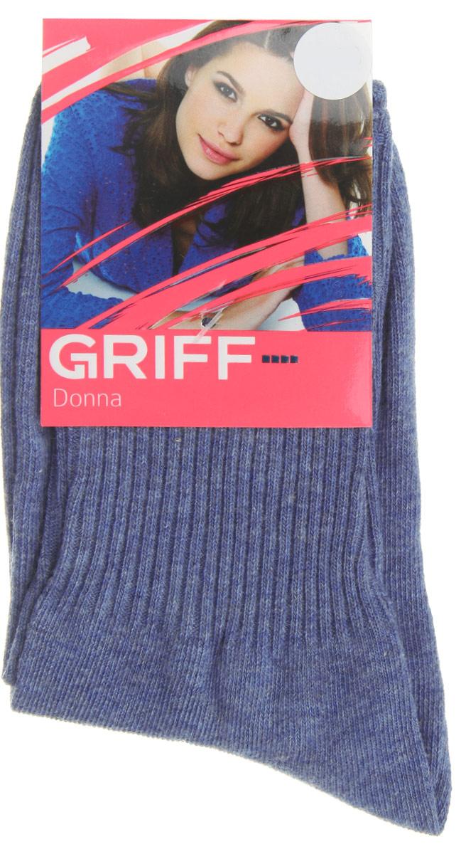 Носки женские Griff Резинка, цвет: голубой. D4O1. Размер 35/38D4O1Женские носки Griff Резинка изготовлены из высококачественного сырья. Носки очень мягкие на ощупь, а широкая резинка плотно облегает ногу, не сдавливая ее, благодаря чему вам будет комфортно и удобно. Усиленная пятка и мысок обеспечивают надежность и долговечность.