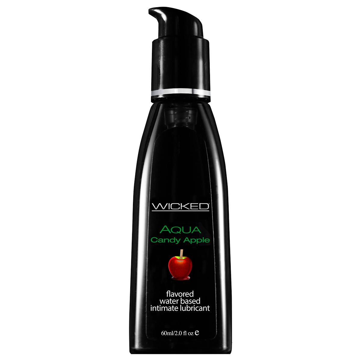 Wicked, Лубрикант со вкусом сахарного яблока WICKED AQUA Candy Apple 60 мл популярные товары для взрослых длина 18 20 см