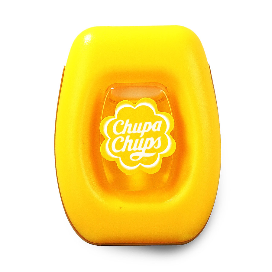 Ароматизатор воздуха Chupa Chups Лайм-лимон, на дефлектор, мембранный, 5 мл ароматизатор воздуха chupa chups лимон на панель приборов гелевый 100 мл