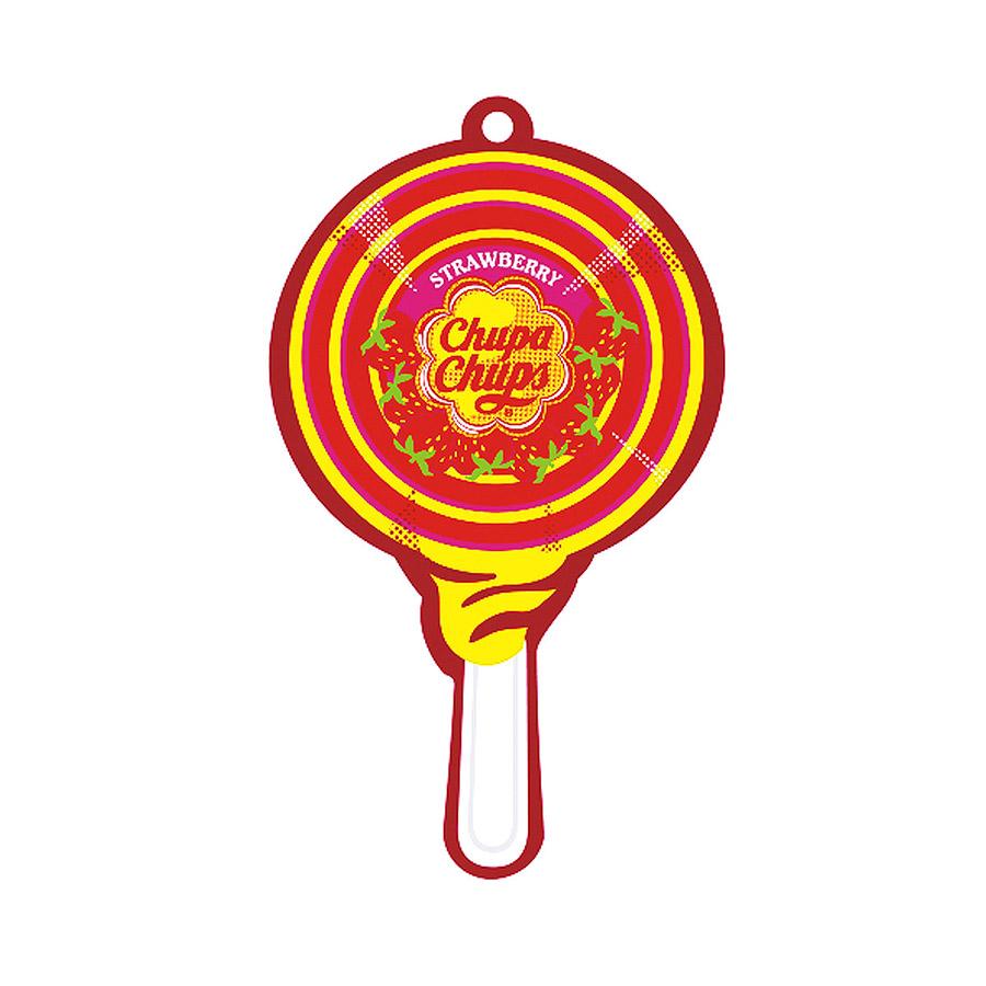 Ароматизатор воздуха Chupa Chups Клубника со сливками, подвесной, двойная пропитка ароматизатор воздуха chupa chups яблоко на дефлектор жидкостный 5 мл