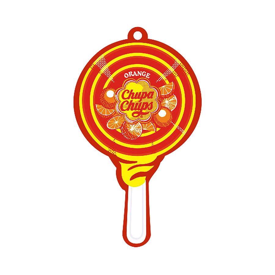 Ароматизатор воздуха Chupa Chups Апельсин, подвесной, двойная пропитка ароматизатор воздуха chupa chups апельсин на дефлектор жидкостный 5 мл