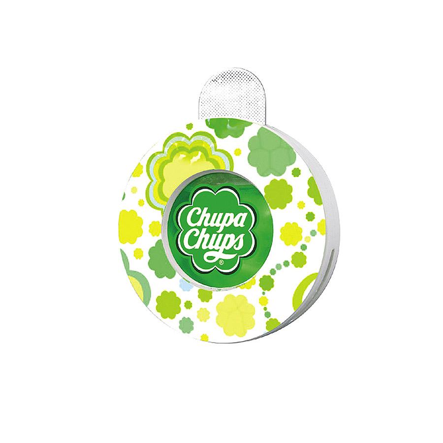 Ароматизатор воздуха Chupa Chups Яблоко, на дефлектор, жидкостный, 5 мл ароматизатор воздуха chupa chups яблоко на дефлектор мембранный 5 мл