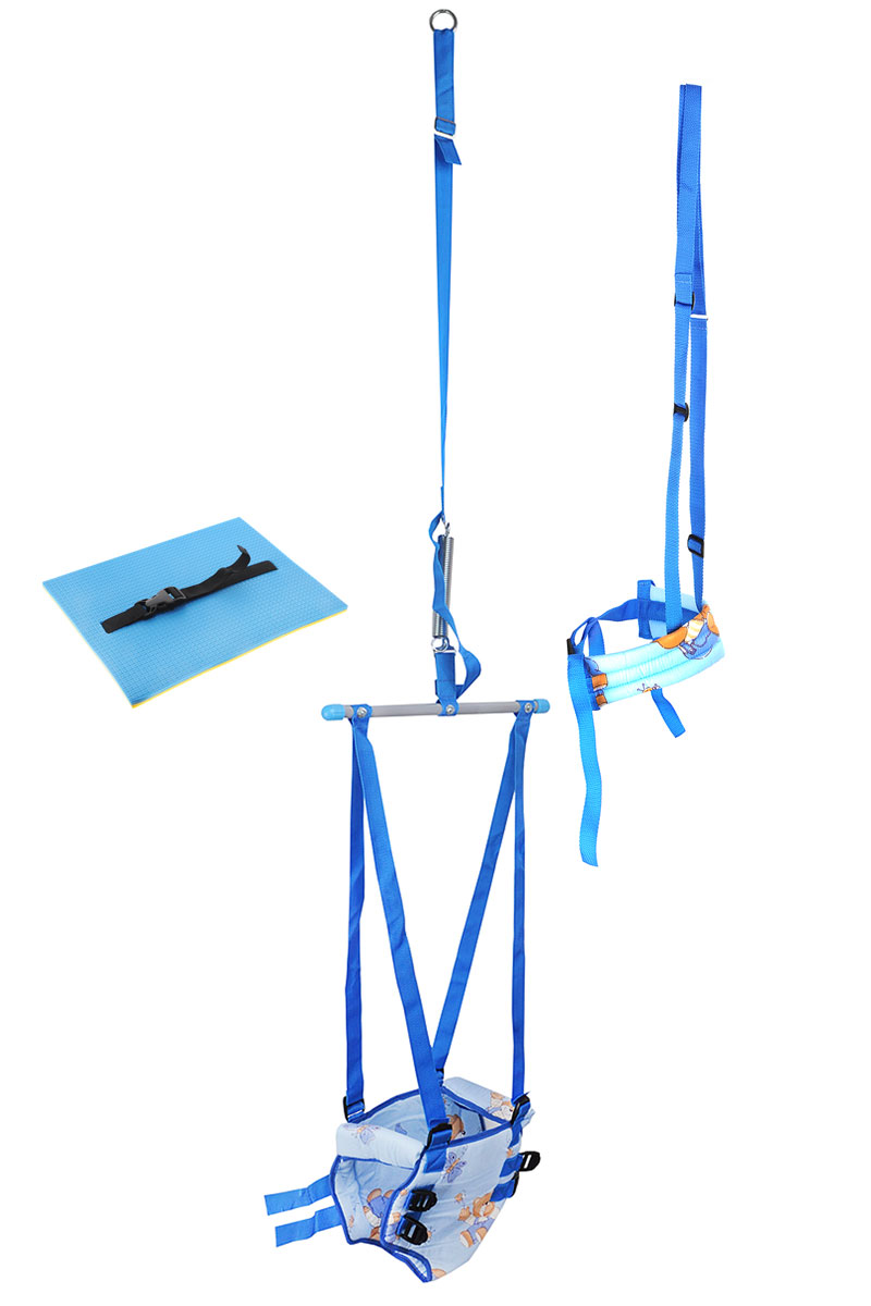Фея Тренажер-прыгунки 4 в 1 цвет голубой - Ходунки, прыгунки, качалки