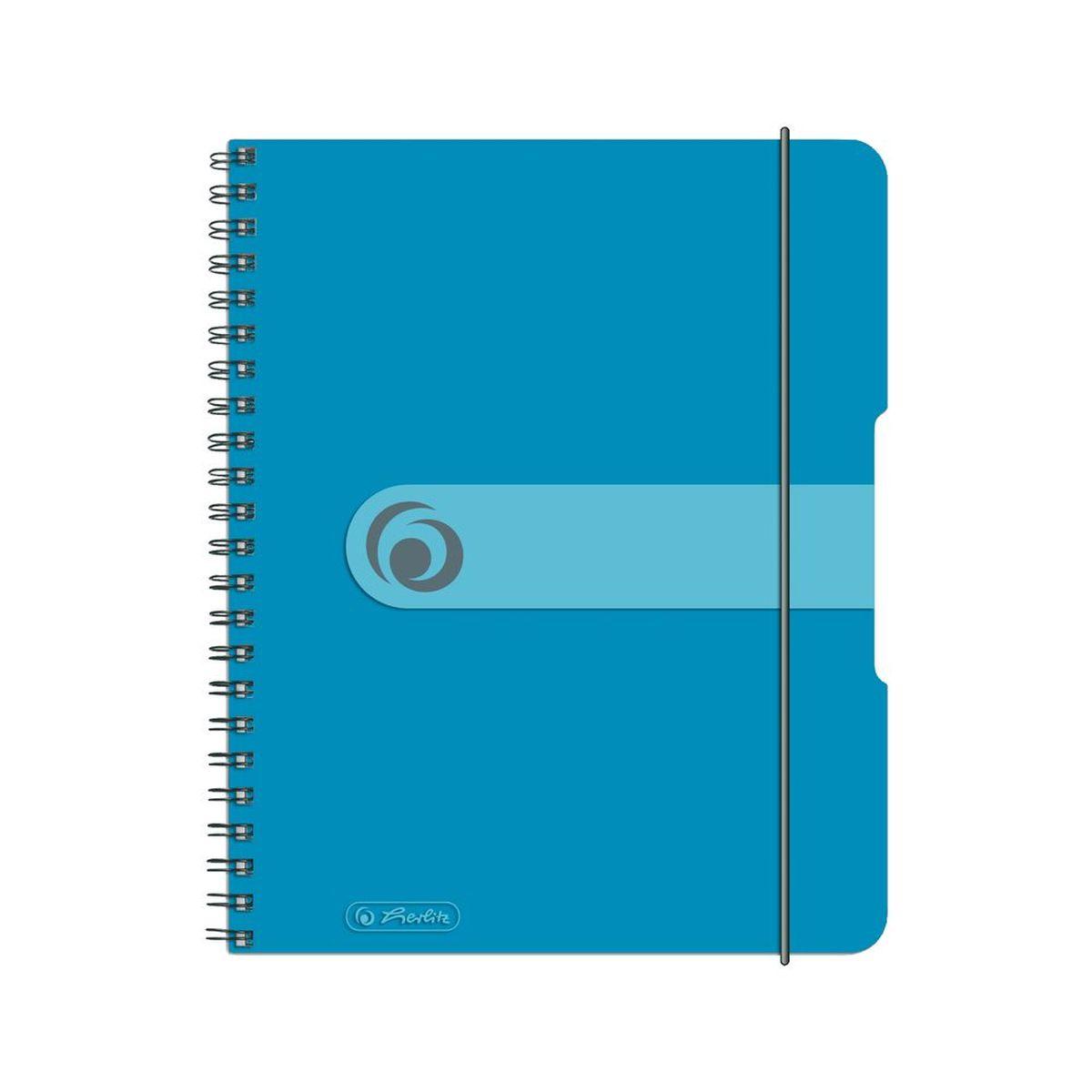 Herlitz Блокнот Easy Orga To Go 80 листов в клетку формат А5 цвет голубой блокнот серия natural формат а5 140 стр темно бордовый в клетку
