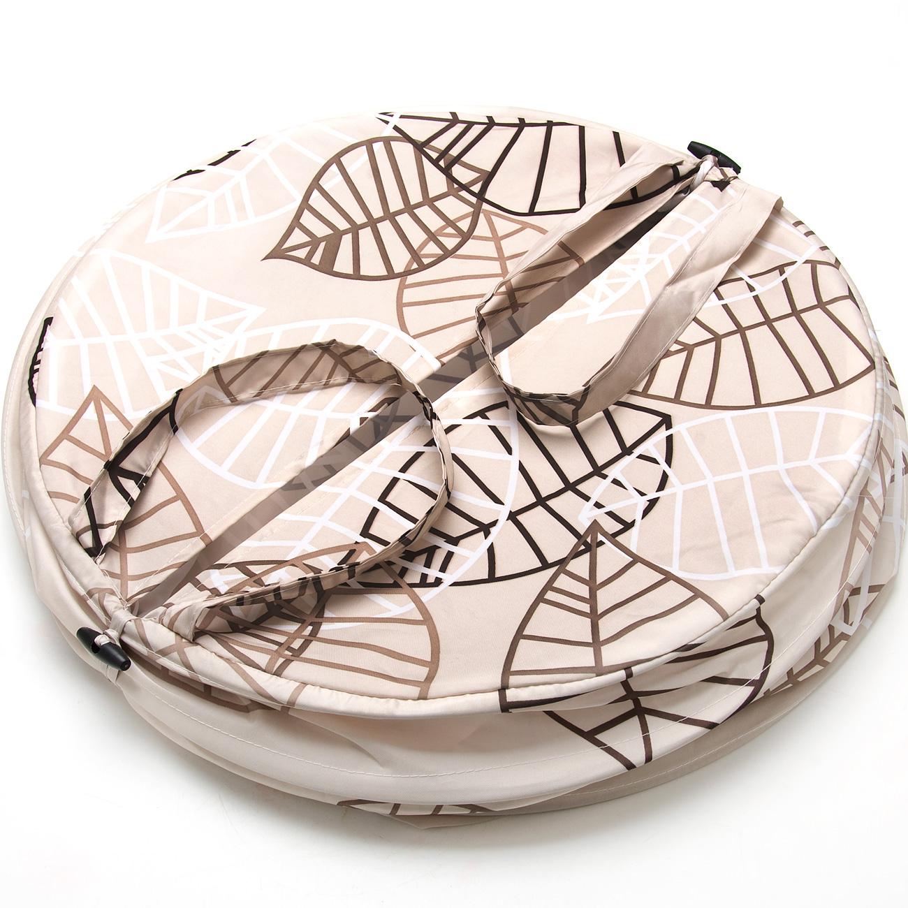 Корзина для белья Aqua Line Пастель, 46 х 53 см1300033BСкладывающаяся корзина для белья выполнена из прочного материала, приятного на ощупь, устойчивого к разрывам и проколам. Корзина снабжена двумя удобными ручками для переноски и закрывается сверху на молнию. Корзина очень удобна в использовании - в собранном виде она обладает вместительным объемом, а в сложенном, напротив, занимает очень мало места.Размер корзины: 46 х 53 см.