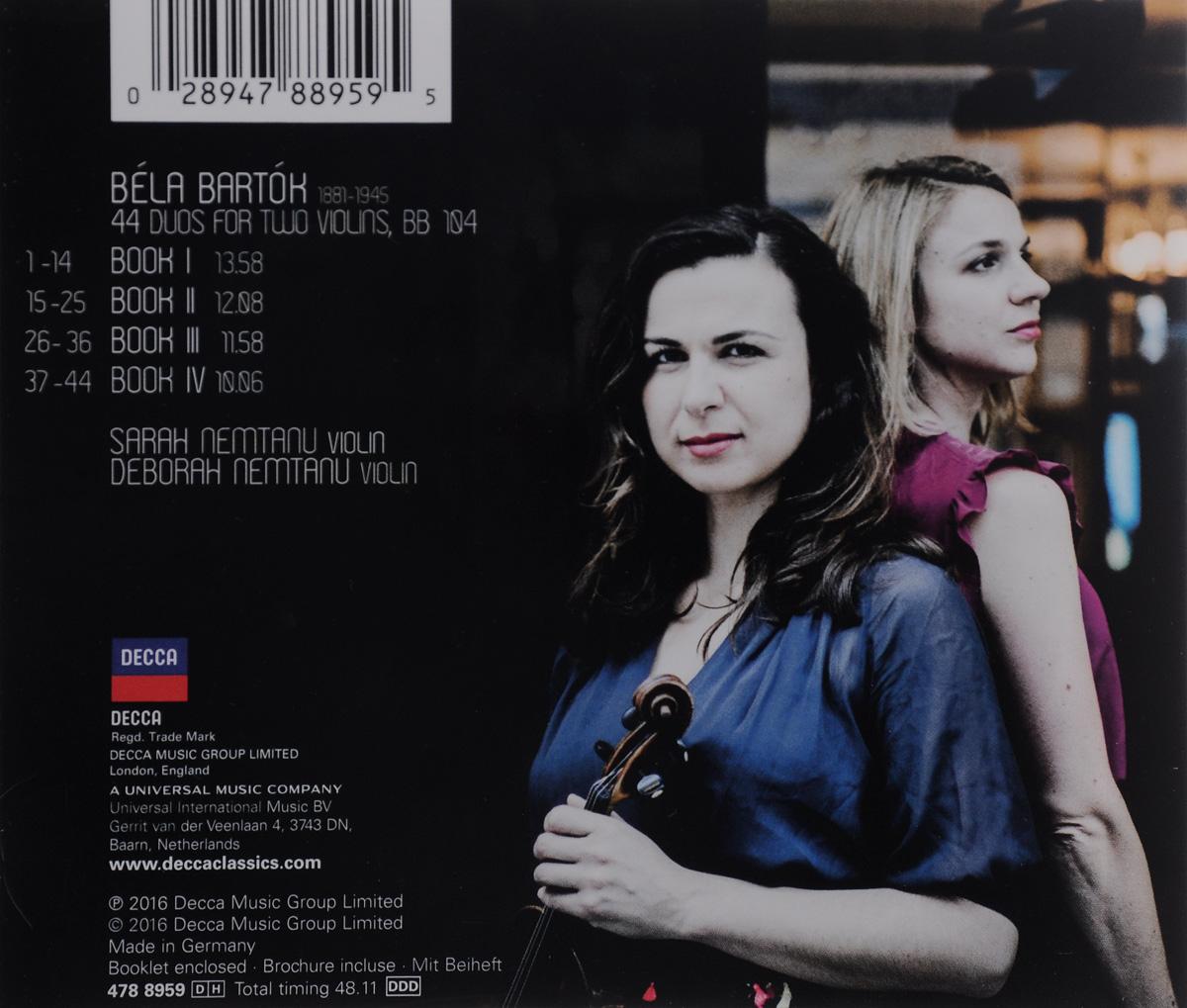 Sarah Nemtanu.  Deborah Nemtanu.  Bartok.  44 Duos For Two Violins ООО
