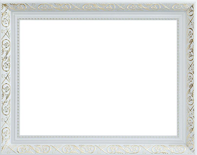 Рама багетная Белоснежка Flora, цвет: серебряный, 30 х 40 см рама багетная белоснежка regina цвет черный серебряный 40 х 50 см
