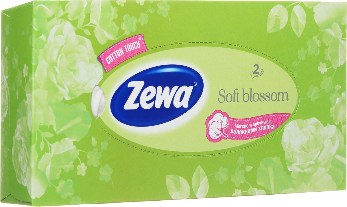 Zewa Платки косметические в коробке Everyday Розы, двухслойные 100 шт, цвет: салатовый140814757_салатовый, розы