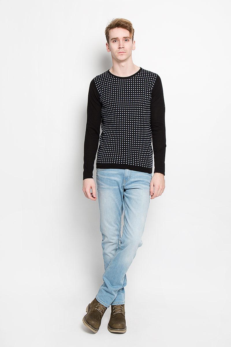 Джемпер мужской Tom Tailor, цвет: черный. 3020916.00.15. Размер XL (52) джемпер мужской tom tailor denim цвет бордовый 3022104 01 12 4257 размер xl 52