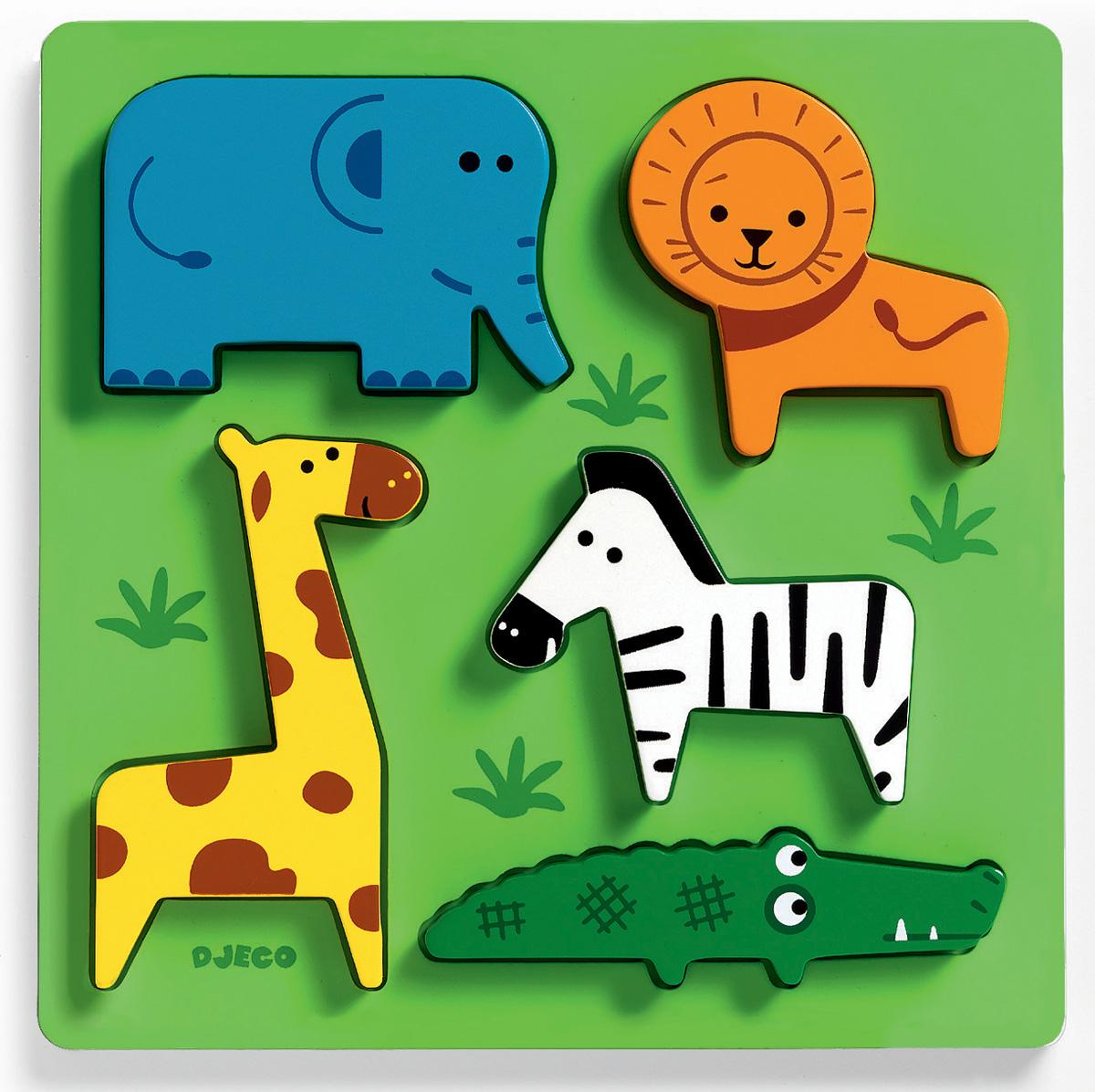 Djeco Пазл для малышей Животные сафари djeco пазл для малышей лесные животные
