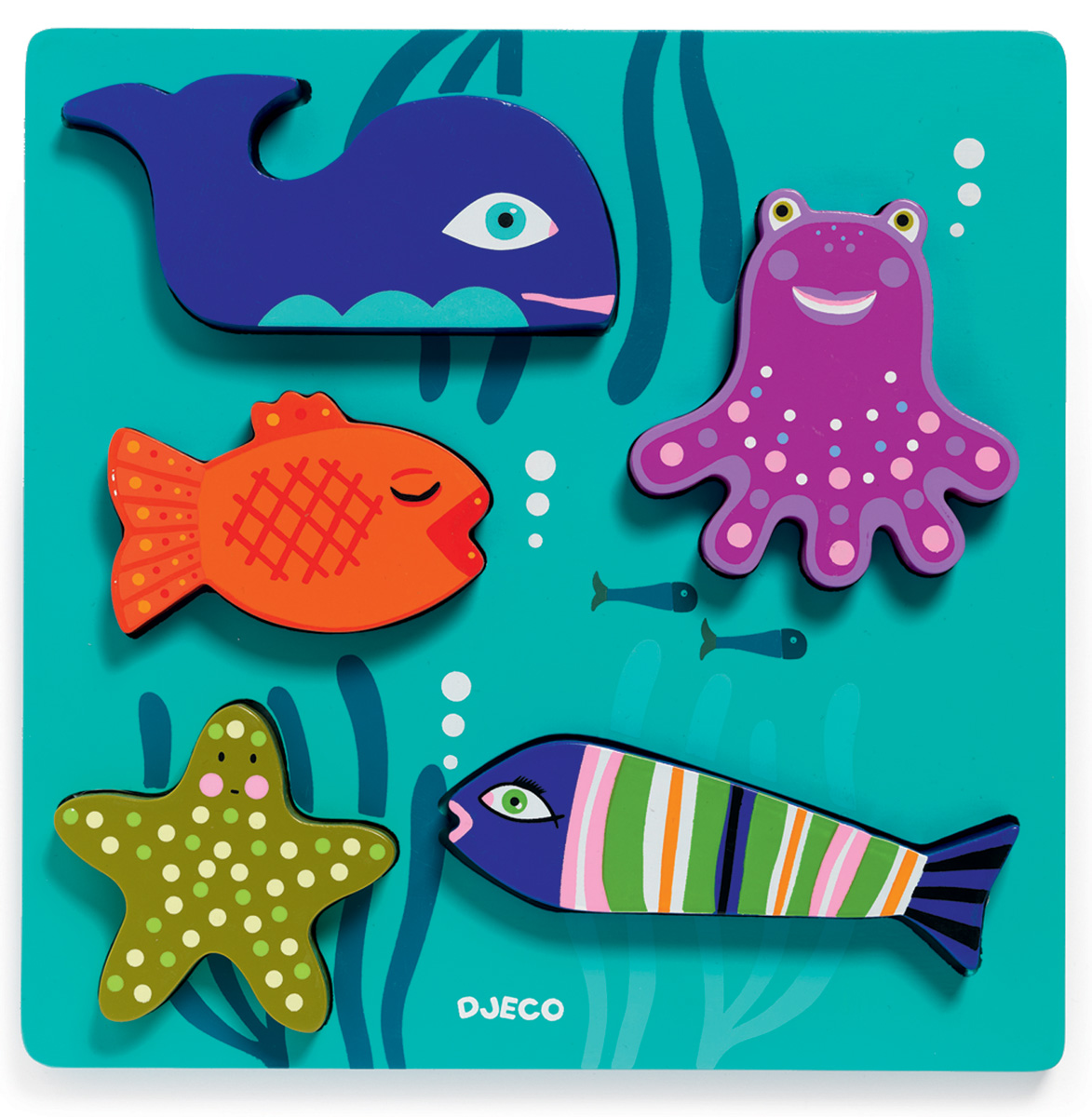 Djeco Пазл для малышей Морские животные djeco пазл для малышей лесные животные