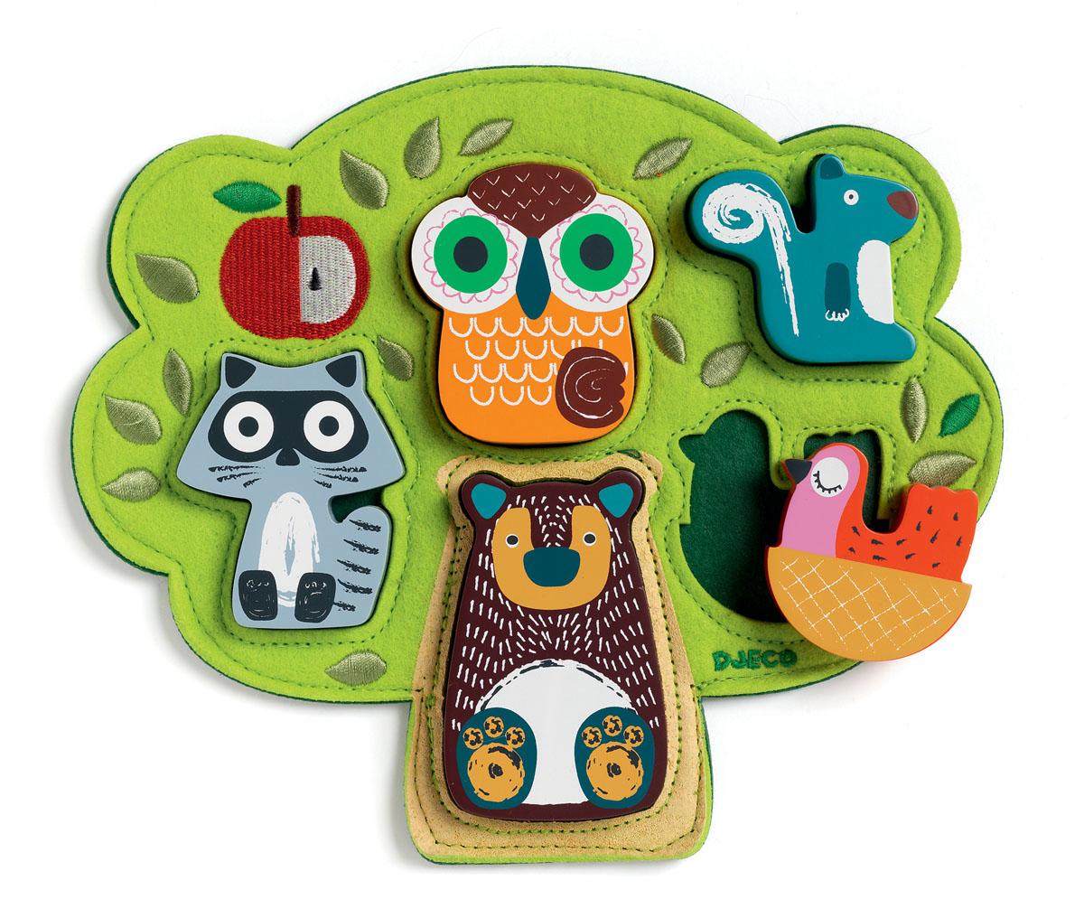 Djeco Пазл для малышей Оски развивающая игрушка djeco зверюшки попрыгунчики пастель 06105