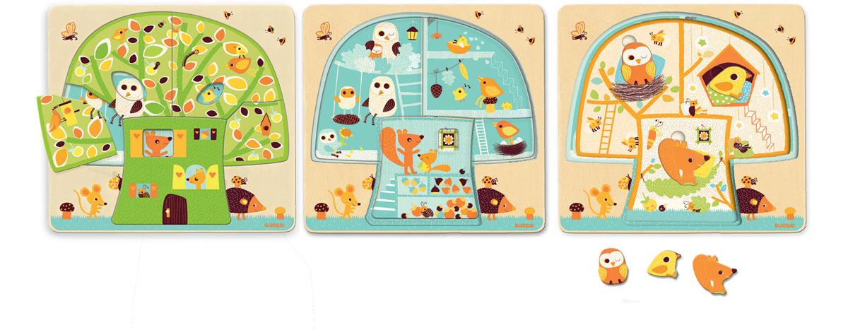 Djeco Пазл для малышей Дом-дерево djeco пазл для малышей лесные животные