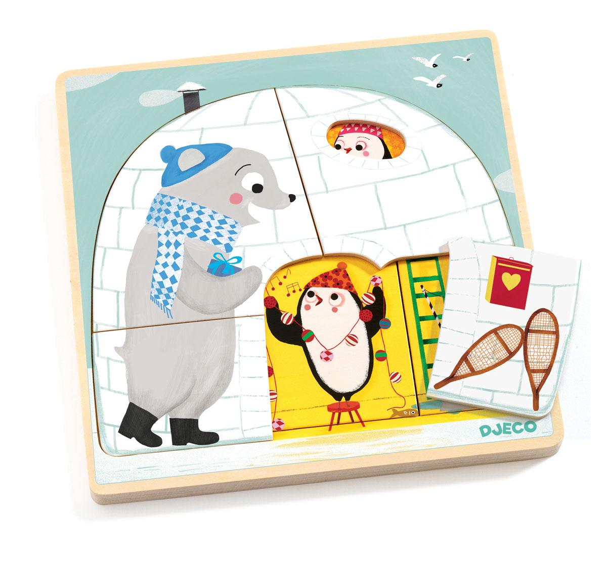 Djeco Пазл для малышей Иглу djeco набор игрушек животные djeco
