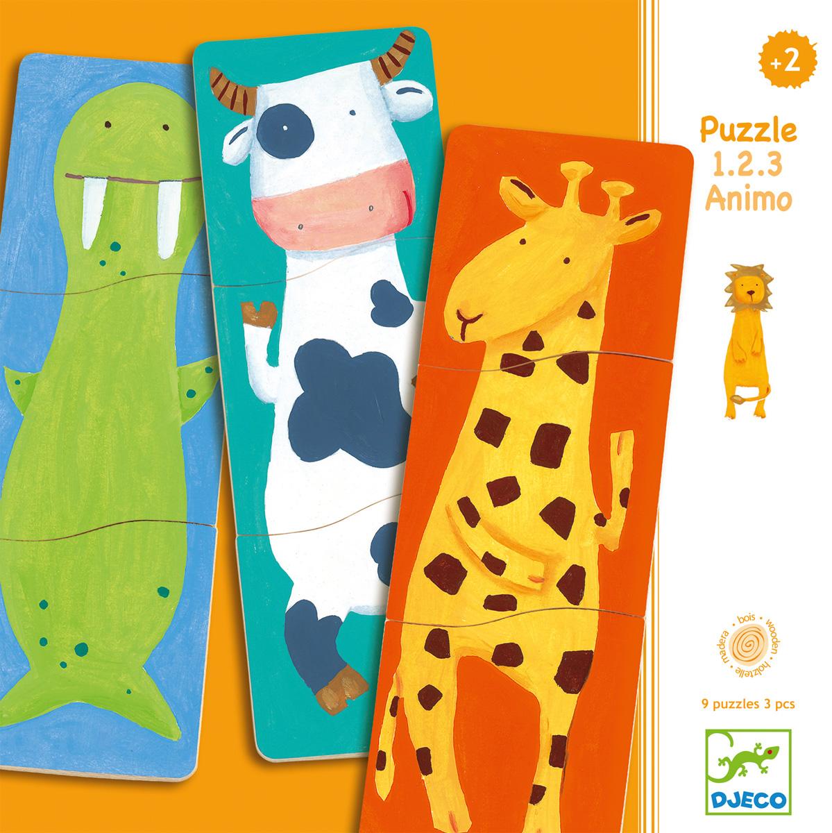 Djeco Пазл для малышей Забавные животные djeco djeco пазлы магнитные забавные животные