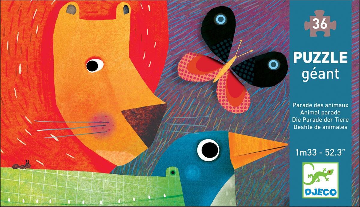 Djeco Пазл для малышей Животные флексика пазл для малышей геометрия цвет основы красный
