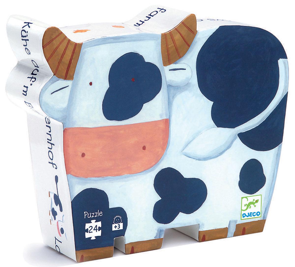 Djeco Пазл для малышей Коровы на ферме djeco пазл для малышей лесные животные