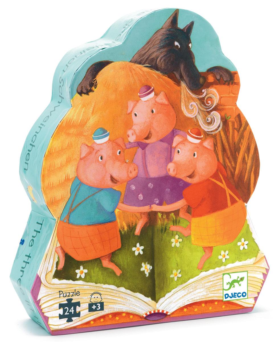 Djeco Пазл для малышей Три поросенка djeco пазл для малышей лесные животные