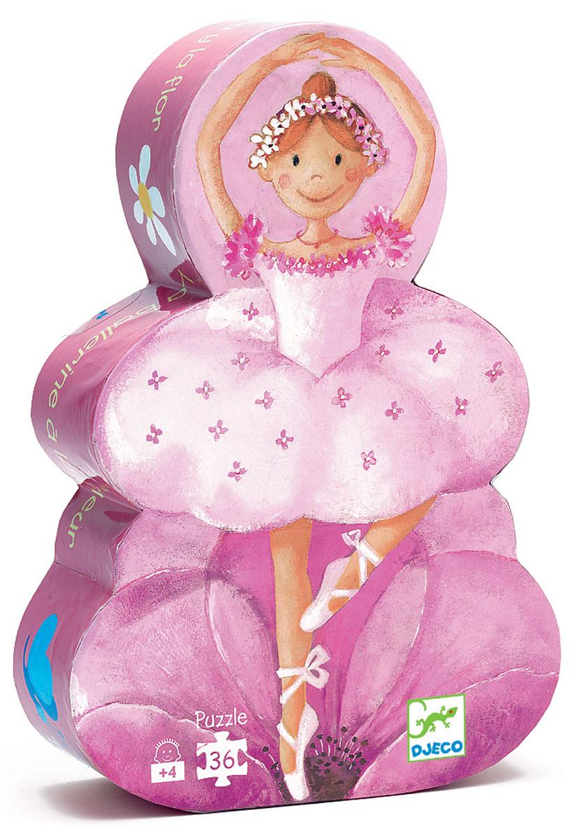 Djeco Пазл для малышей Балерина с цветами djeco пазл для малышей лесные животные