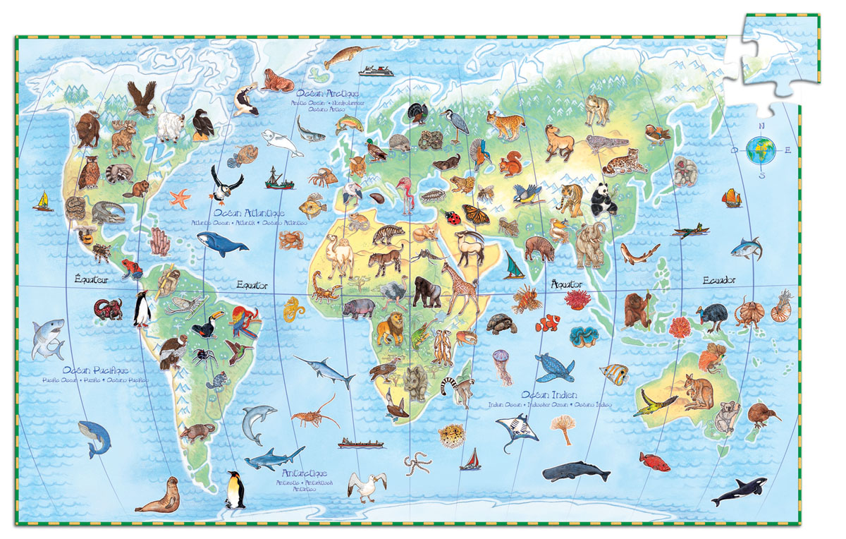 Djeco Пазл для малышей Животные мира