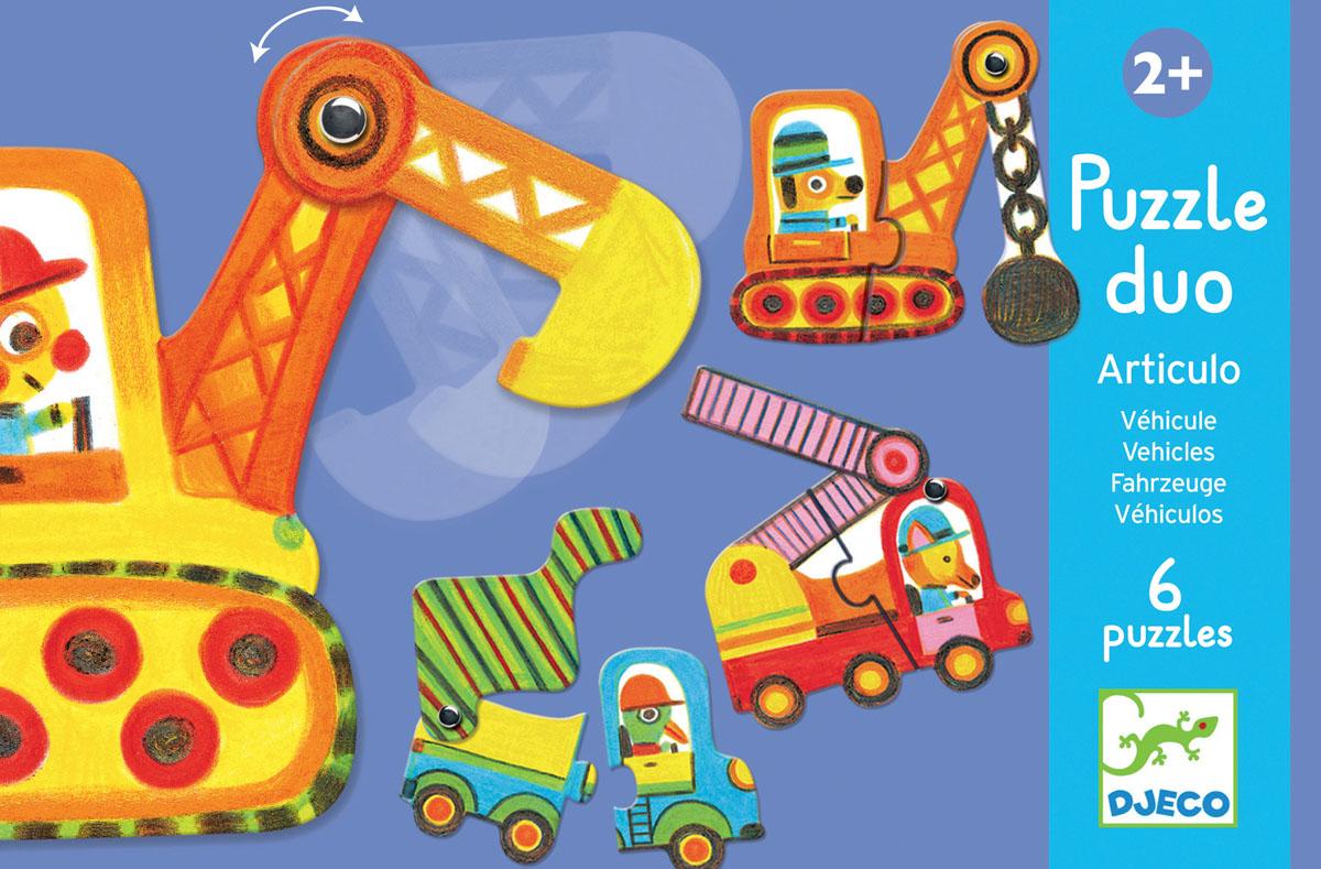 Djeco Пазл для малышей Машинки машинки пазлы книжка игрушка