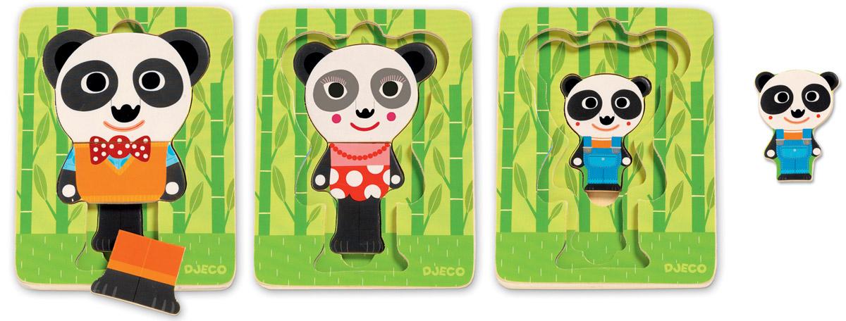 Djeco Пазл для малышей Панда djeco пазл для малышей лесные животные