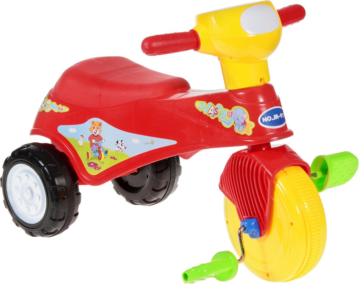 J.R. TOYS Велосипед детский Трицикл цвет красныйJR-911BRВелосипед-каталка J.R. TOYS Трицикл непременно понравится вашему ребенку. Каталка выполнена из яркого высококачественного пластика и выдерживает нагрузку до 25 кг. Ручки удобны для захвата маленькими детскими ладошками. Велосипед очень устойчив за счет переднего колеса и широкой задней колесной базы. Главный плюс такой каталки в том, что она приводится в движение педалями. Частые поездки на таком средстве передвижения приучают ребенка к физической активности, что благотворно влияет на его общее развитие. А также модель создана для развития мускулатуры ног, координации движений и вестибулярного аппарата ребенка.Порадуйте своего ребенка таким замечательным подарком!Изделие поставляется в разобранном виде.