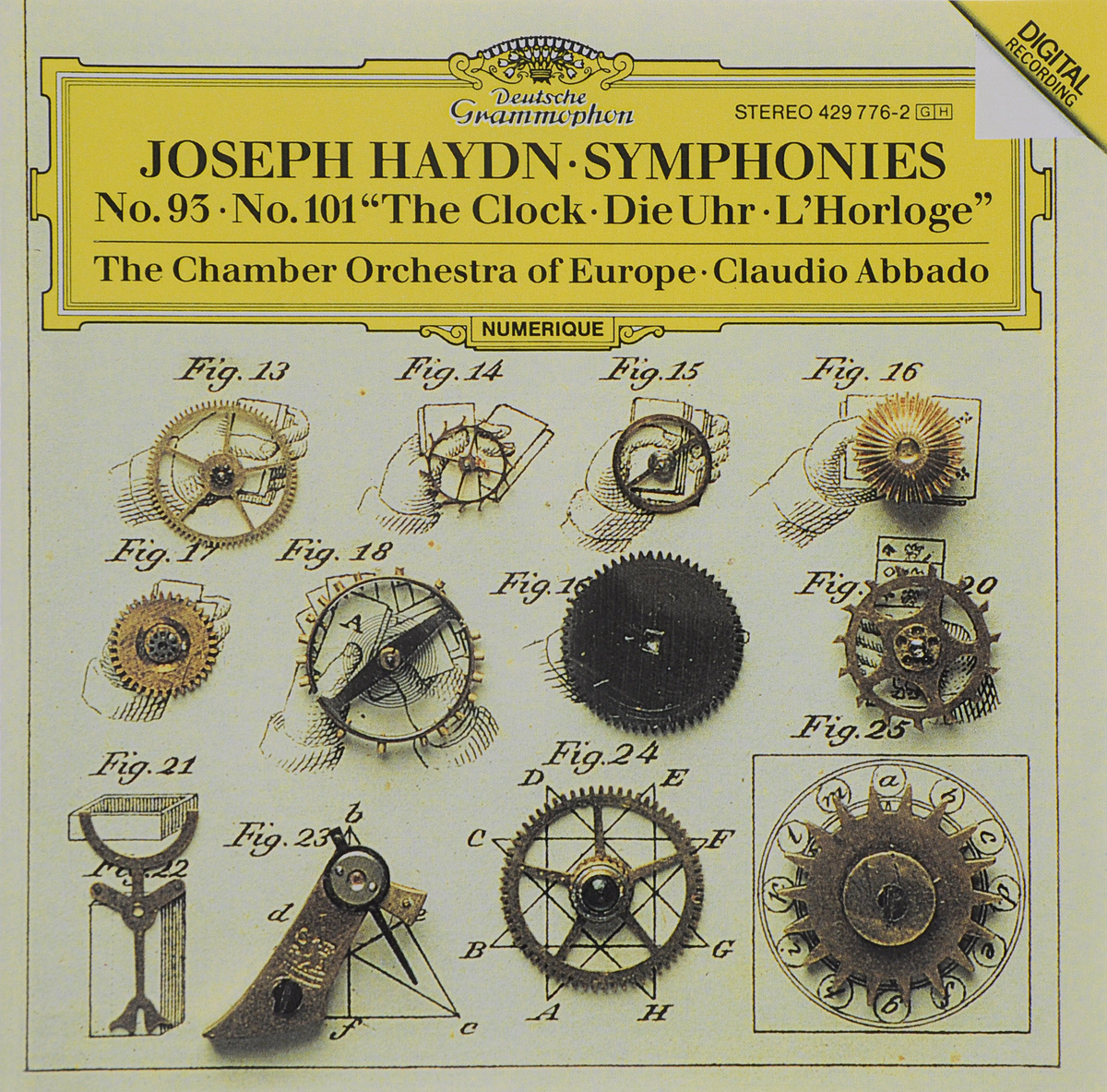 Клаудио Аббадо,The Chamber Orchestra Of Europe Claudio Abbado. Haydn. Symphonies No. 93 / No. 101 The Clock cbn e314l gear pump the left rotation splined shaft long shaft with no flange no end oil outlet