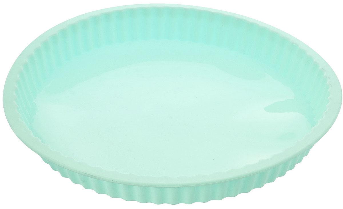 Форма для выпечки кекса Mayer & Boch, силиконовая, цвет: мятный, диаметр 27,5 см21968_мятныйКруглая форма Mayer & Boch будет отличным выбором для всех любителей выпечки. Благодаря тому, что форма изготовлена из силикона, готовую выпечку вынимать легко и просто. Стенки формы рифленые. Форма прекрасно подходит для выпечки кексов. С такой формой вы всегда сможете порадовать своих близких оригинальной выпечкой. Материал изделия устойчив к фруктовым кислотам, может быть использован в духовках, микроволновых печах, холодильниках (выдерживает температуру от -40°C до 230°C). Антипригарные свойства материала позволяют готовить без использования масла.Можно мыть в посудомоечной машине. Внешний диаметр: 27,5 см.Высота стенок: 3 см. Как выбрать форму для выпечки – статья на OZON Гид.