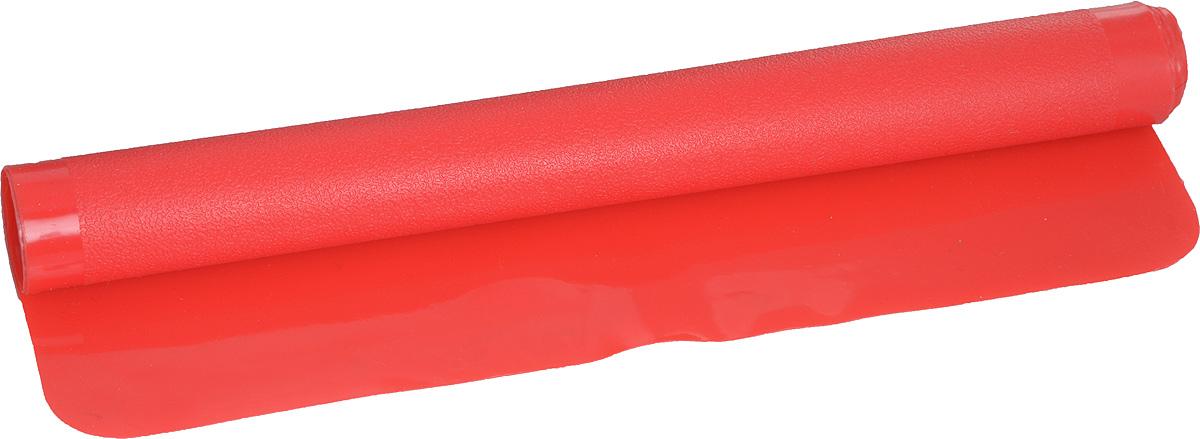 Коврик для раскатки теста выполнен из высококачественного силикона, удобен и в использовании, и в хранении, так как скатывается в тонкую трубочку, которая занимает в шкафу  мало места. К коврику не липнет тесто, а благодаря удобному размеру можно раскатать пласт идеально подходящий под размер формы. Размер коврика 40 х 30 см, а расцветки яркие и запоминающиеся.