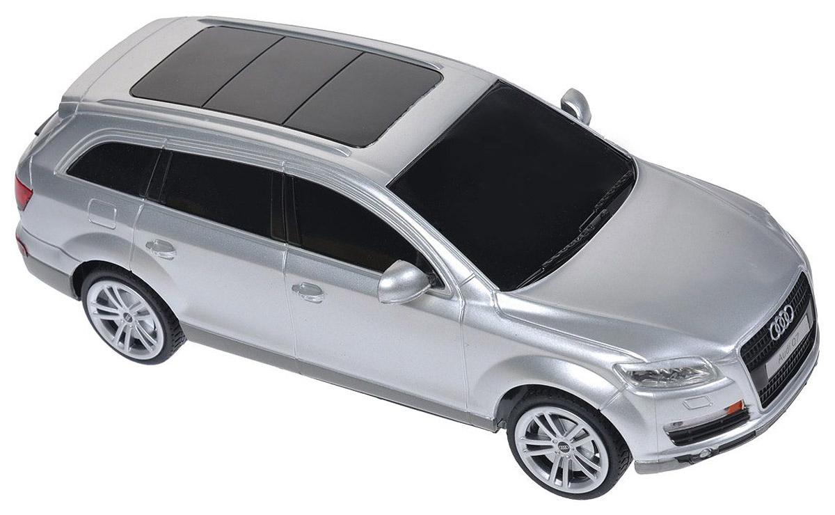 Rastar Радиоуправляемая модель Audi Q7 цвет серебристый масштаб 1:24 радиоуправляемая игрушка rastar audi q7 1 24 27300