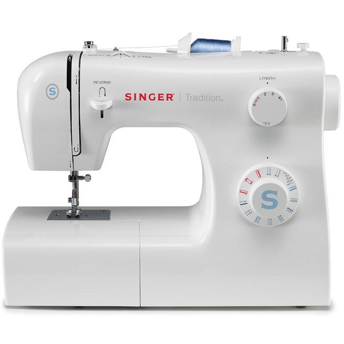 Singer Tradition 2259 швейная машинаTradition2259Недорогая классическая швейная машина Singer Tradition 2259 имеет расширенный набор строчек, умеет делать все основные швейные операции и отлично подойдет для обучения шитью, ремонта и шитья одежды и предметов домашнего обихода, а также для других подобных работ.Данная модель имеет простое управление. Она сочетает в себе широкие функциональные возможности, высокое качество и современный дизайн. Машинка выполняет 19 швейных операций, в которые входят полуавтоматические петли, эластичные, усиленные, классические и другие строчки. Освещение рабочей области способствует более комфортной работе при слабом свете.