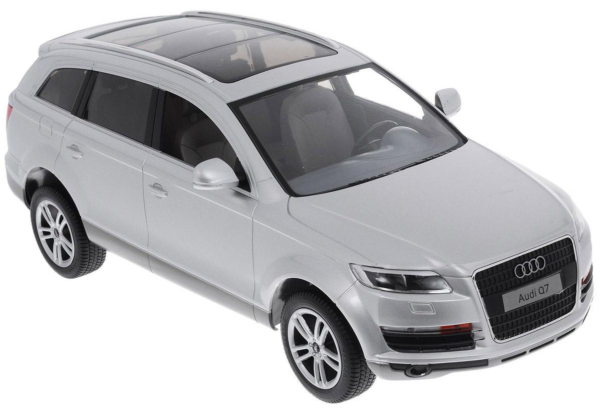 Rastar Радиоуправляемая модель Audi Q7 цвет серебристый масштаб 1:14 rastar радиоуправляемая модель mclaren p1 масштаб 1 14 цвет желтый