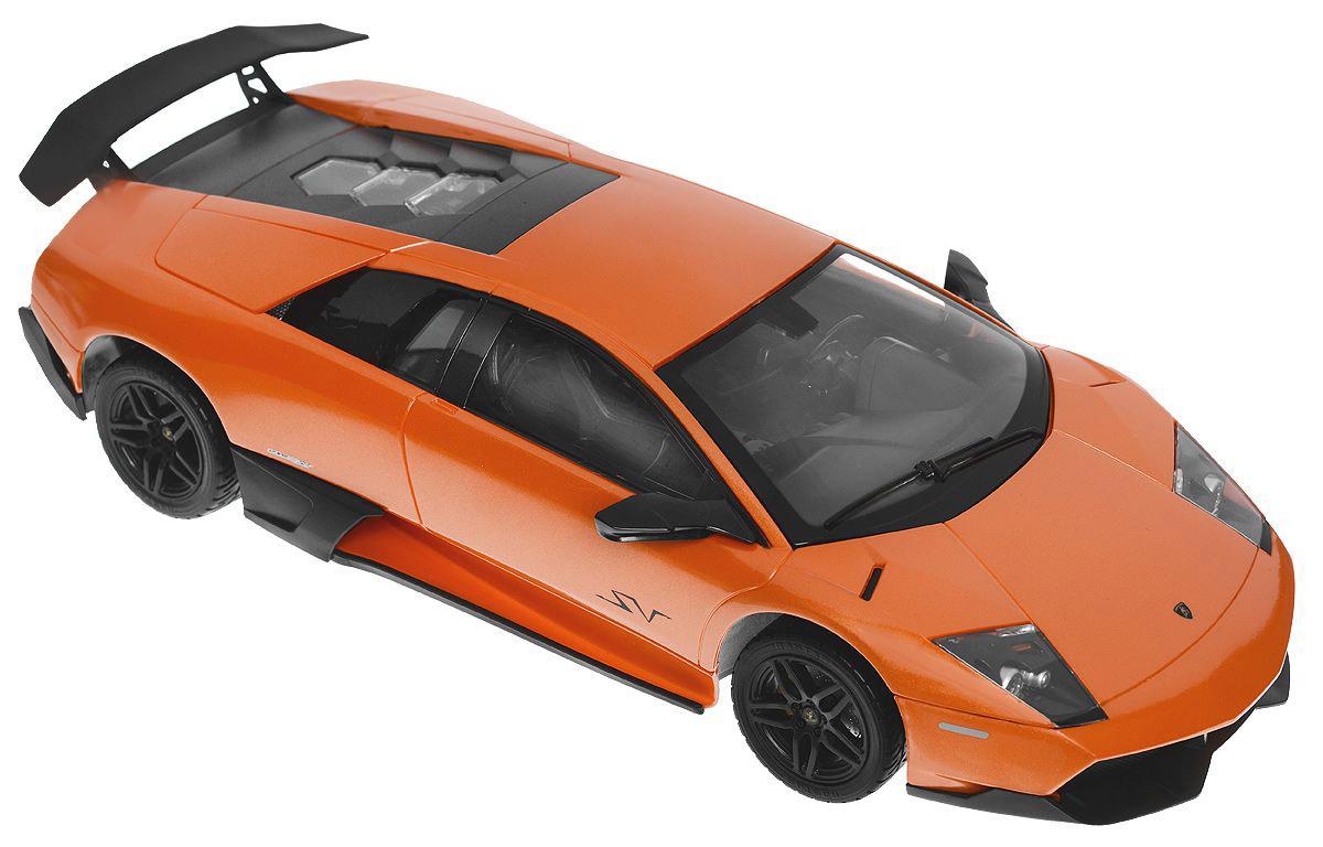 Rastar Радиоуправляемая модель Lamboighini Murcielago LP670-4 SV цвет оранжевый модель автомобиля lamborghini murcielago lp670 4 масштаб 1 43 39500